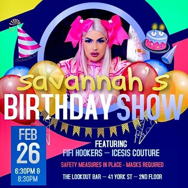 Savannah Couture's Birthday Show feat. Fifi and Icesis - 6:30pm image