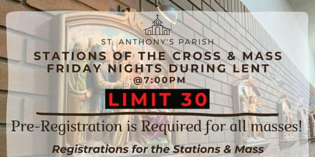 Stations of the Cross & Mass Sign-up Friday Feb 26 tickets