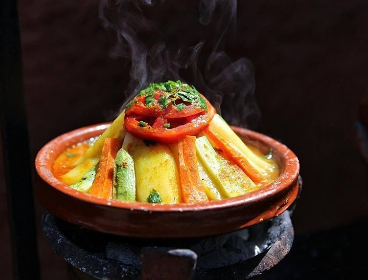 Tagine With Carrots & Potatoes - LIVE Virtual Moroccan Cooking Course image