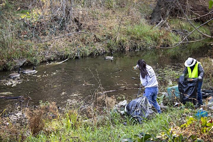 SB Clean Creeks  Cleanup  Los Gatos Creek at Auzerais Sponsored by D6 image