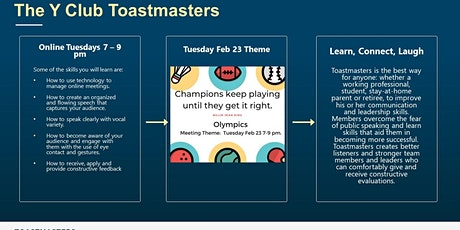 The Y Club Toastmasters Edmonton tickets