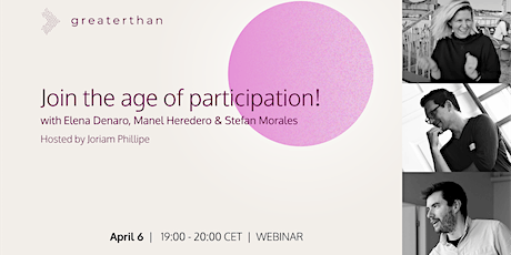Greaterthan Talks #4: Join the Age of Participation! tickets