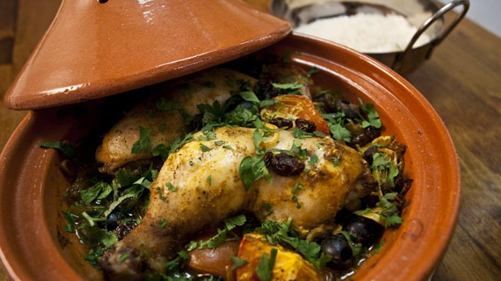 Moroccan Tajine With chicken - Virtual Cooking Class With Real Cook image