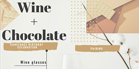 Wine + Chocolate Pairing : Wine + Chocolate Included tickets