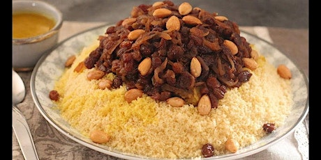 Moroccan Couscous Tfaya - Virtual Cooking Class Moroccan Traditional Dish tickets