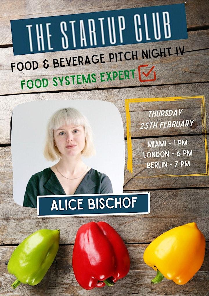 Food & Beverage Pitch Night IV image