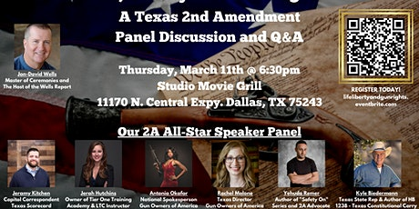 Life, Liberty & Gun Rights! A Texas 2nd Amendment Panel Discussion and Q&A tickets