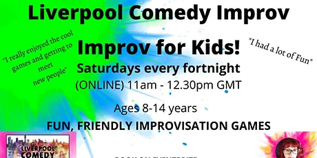 Improvisation for Kids!  Saturday morning drop-in sessions! (online) tickets