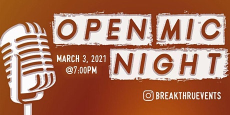 Breakthru Events: Open Mic Night tickets