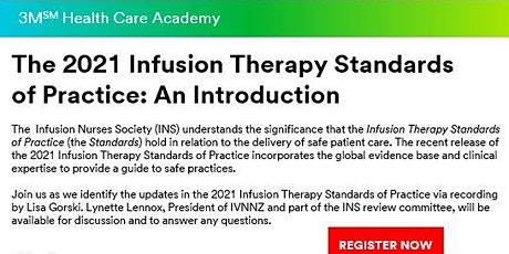 The 2021 Infusion Therapy Standards of Practice - An Introduction. tickets