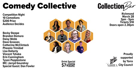 Comedy Collective Comp 1 - March 28 @ the Collection Bar tickets