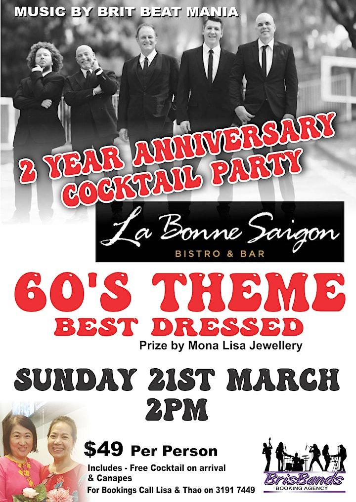 Brit Beat Mania performing for  La Bonne Saigon Anniversary Cocktail Party image