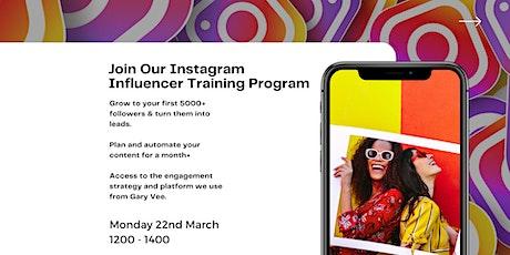 Instagram Influencer Training tickets