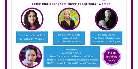 International Women's Day Lunch - March 8th 2021.  Fantastic Women Speakers tickets
