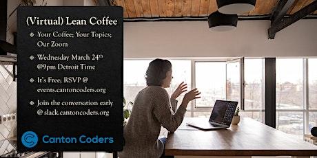 (Virtual) Coding Lean Coffee tickets
