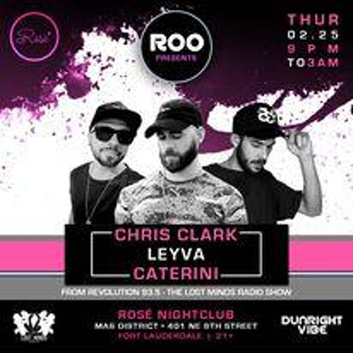 Roo Presents 93.5fm's Lost Minds Shows Chris Clark, Leyva & Caterini image