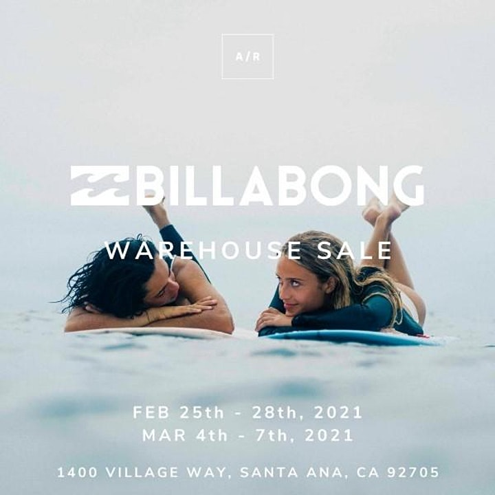Billabong Warehouse Sale - February 2021 - Santa Ana, CA image