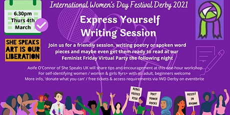 Express Yourself Poetry Writing Workshop tickets