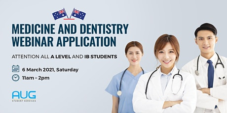 Australia Medicine & Dentistry Webinar + application day bilhetes
