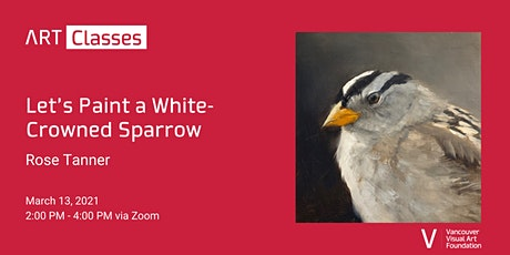 Let's Paint a White-Crowned Sparrow Art Class tickets