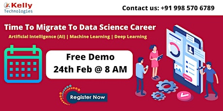 Join Us For Data Science Free Demo Session On Wed 24th Feb @ 8 AM tickets