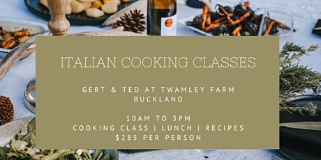 Italian Cooking Classes tickets
