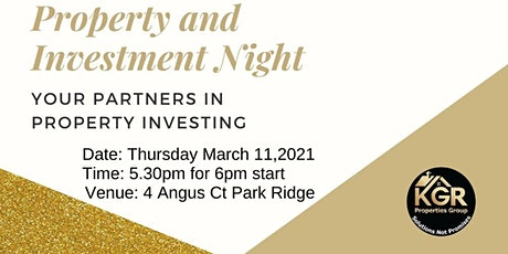 Property Information Night tickets