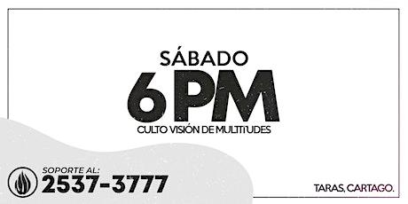 CULTO GENERAL SÁBADO 6 PM - 2021 boletos