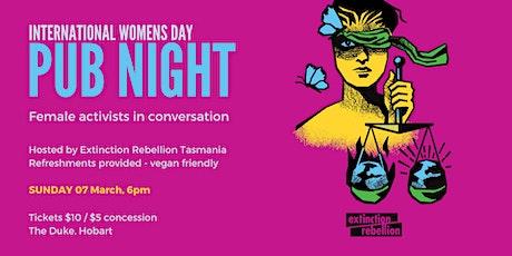 International Womens Day Pub Night - Female Activists in Conversation tickets