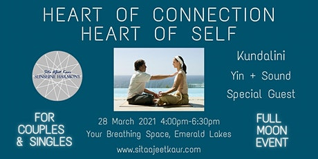 Heart of Connection Heart of Self: Kundalini, Yin, Sound, Full Moon Event tickets