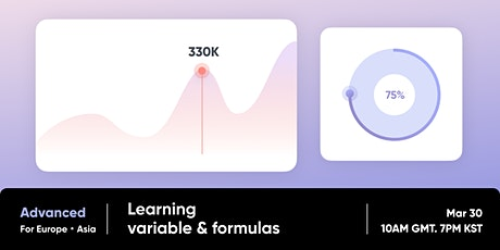 ProtoPie Advanced Workshop (2/2) - Learning Variable and Formulas tickets