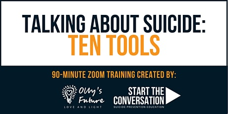 Talking about Suicide: Ten Tools - online training tickets