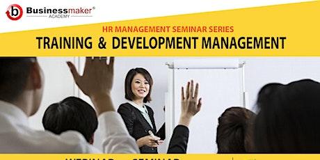 Live Webinar: Training & Development Management tickets