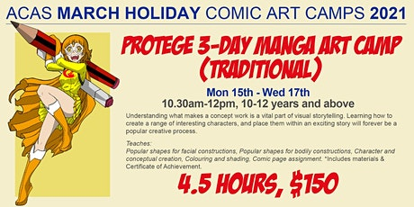 March 3-Day PROTEGE Holiday Manga Art Camp tickets