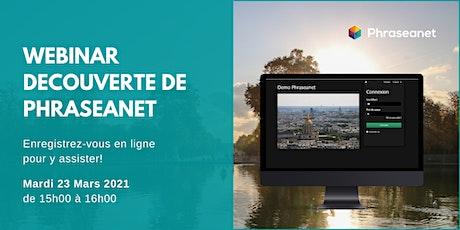 Webinar Phraseanet, Mardi 23 Mars 2021 billets