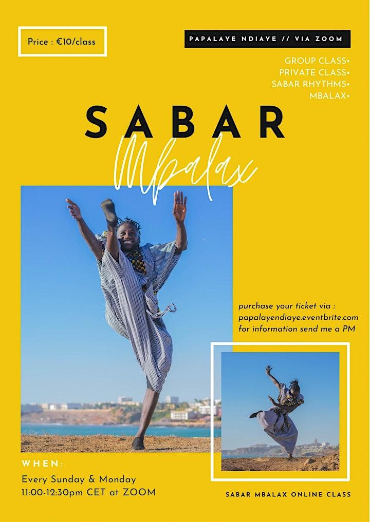 Sabar Mbalax Group Dance Class - Monday image