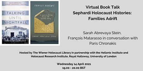 Virtual Book Talk: Sephardi Holocaust Histories: Families Adrift tickets
