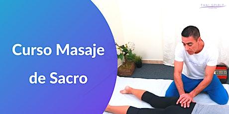 Curso Masaje de Sacro Online entradas