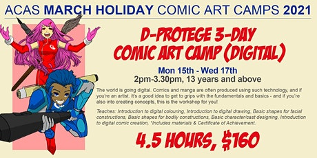 March 3-Day D-PROTEGE Holiday Digital Manga Art Camp tickets