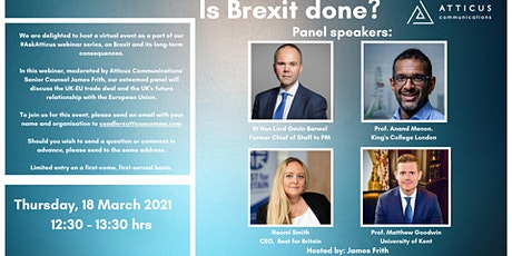 Is Brexit done? tickets