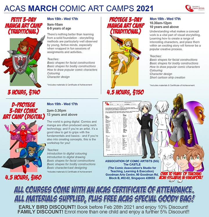March 3-Day PROTEGE Holiday Manga Art Camp image