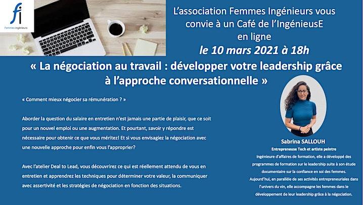 Image pour Café IngénieuSe : La négociation au travail