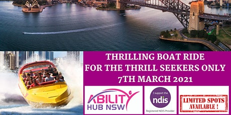 360 Degrees Speed Boat Ride - Disability Support Group NDIS Funded - AHN tickets