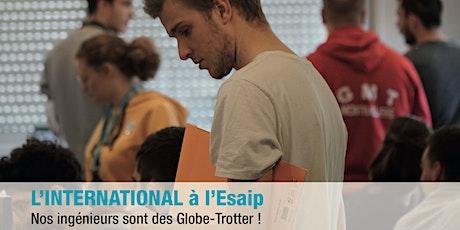 ESAIP RDV JPO  International :  séjours d'études billets
