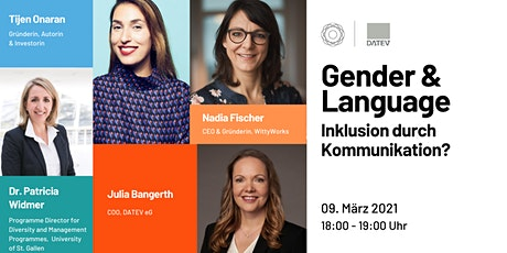 Gender & Language - Inklusion durch Kommunikation? | GDWxDATEV Tickets