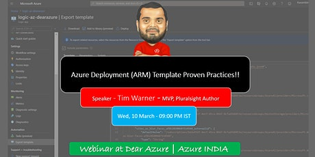 Azure Deployment (ARM) Template Proven Practices - tickets