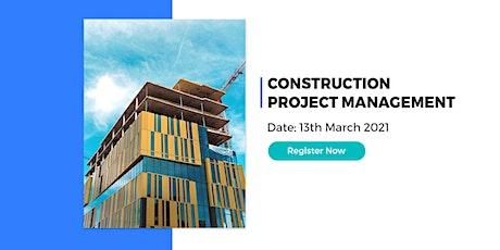 Online Certification Program on Construction Project Management tickets