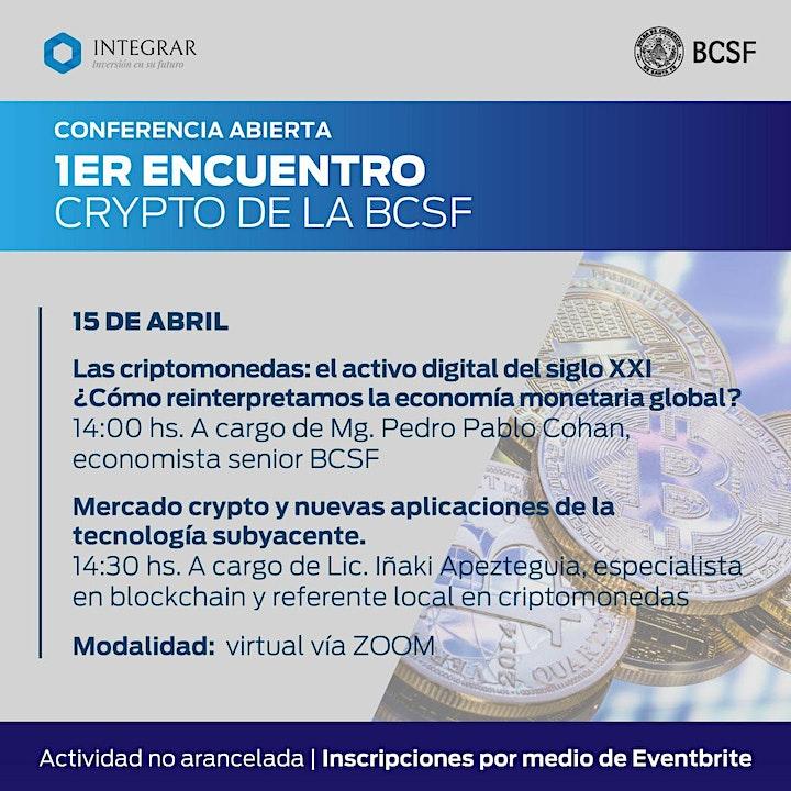 Imagen de 1er Encuentro Crypto de la BCSF: charla abierta