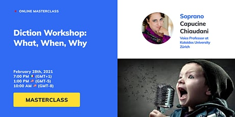 Diction Workshop for Vocal Freedom - Passive tickets