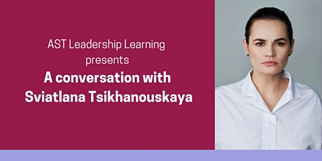 A conversation with Sviatlana Tsikhanouskaya tickets